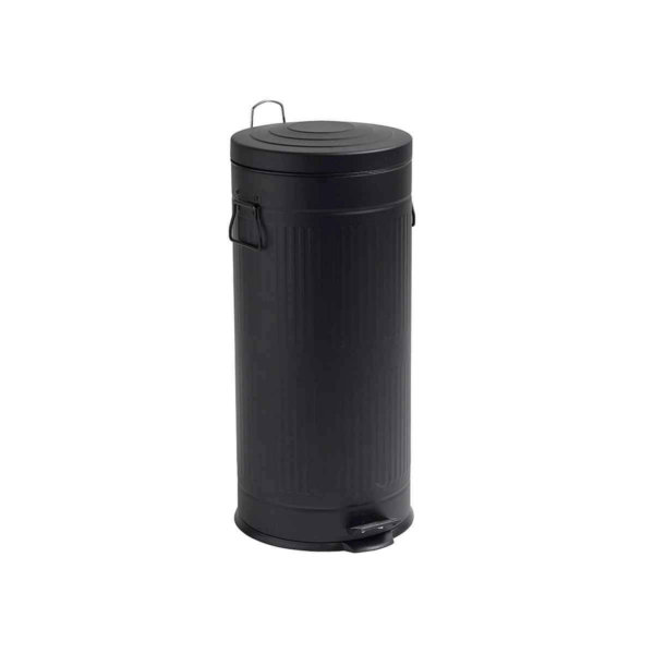 Affaldsspand skraldespand pedalspand metal nordal Sort 30L