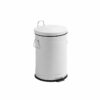 affaldsspand med låg hvid 20 L nordal