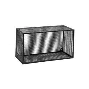 Nordal wire box hylde sort metal
