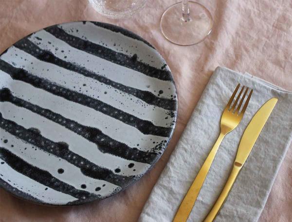 Artigo middagstallerken med striber fra Packhouse