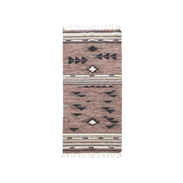 Tribe gulvtæppe 90x200 cm fra House Doctor i rosa