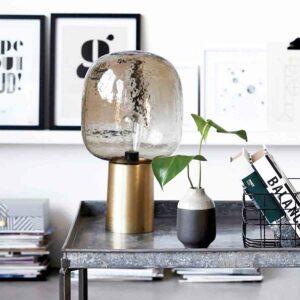 House Doctor note bordlampe med grå kuppel