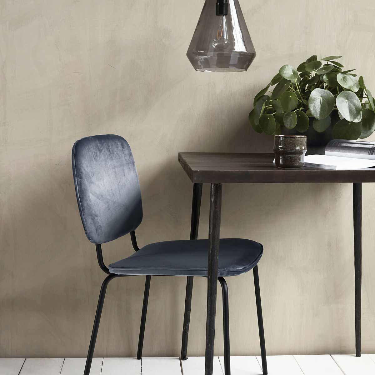 Comma spisebordsstol i grå velour House Doctor spisebordsstol