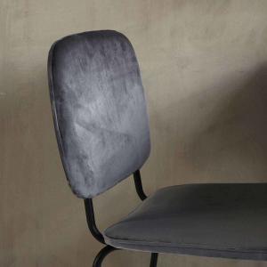 Comma spisebordsstol i grå velour fra House Doctor