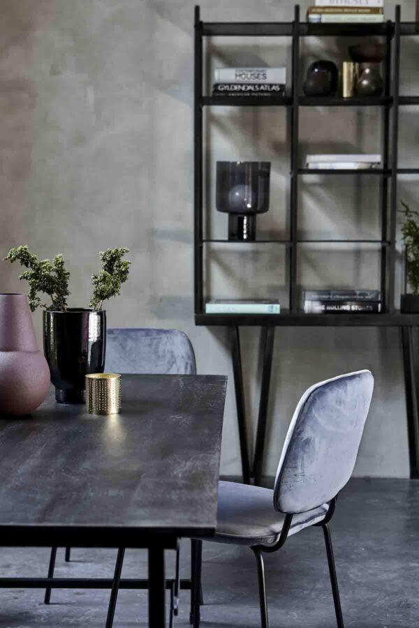 House Doctor Comma spisebordsstol grå velour
