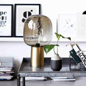 Note bordlampe i guld og grå glas fra House Doctor