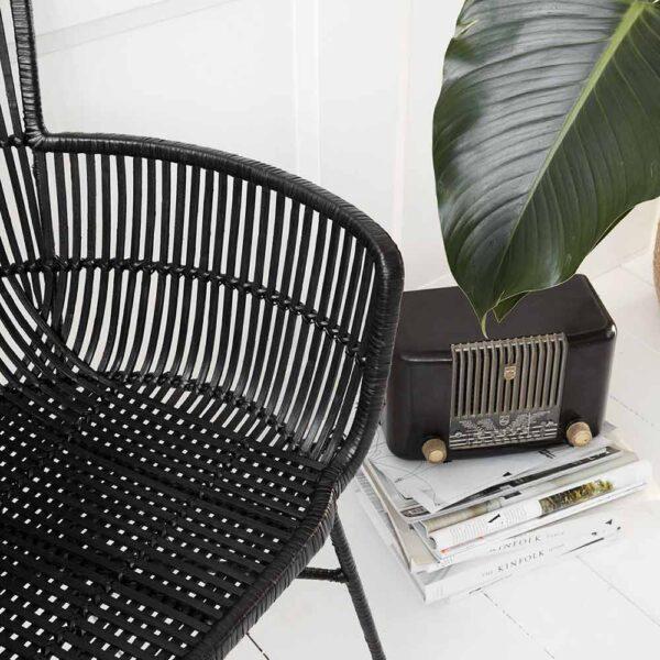 House Doctor Cuun spisebordsstol i sort rattan