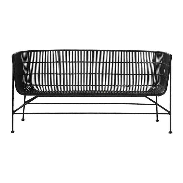 Cuun sofa i sort rattan fra House Doctor.