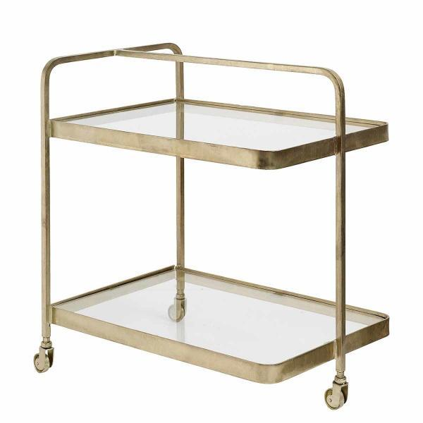 Nordal Trolley rullebord i guld