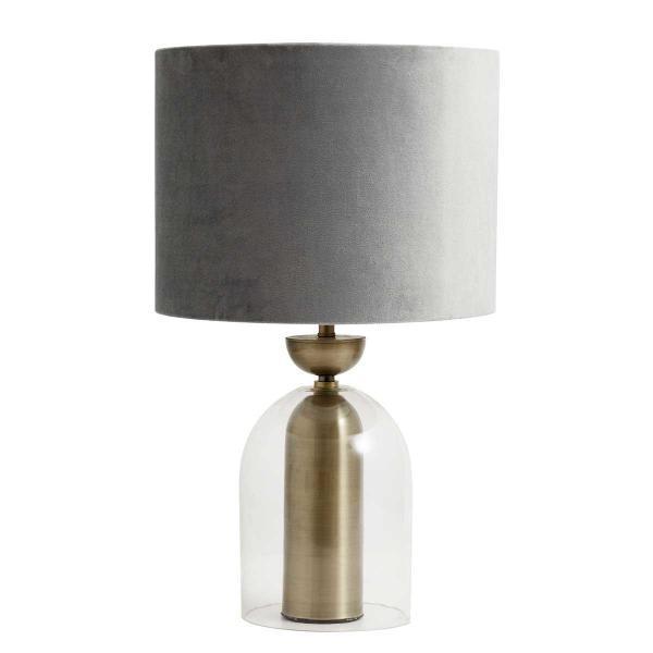 Bordlampe i glas med guld fra Nordal