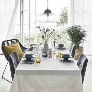 Dinner spisebordsstol i grå velour fra Nordal
