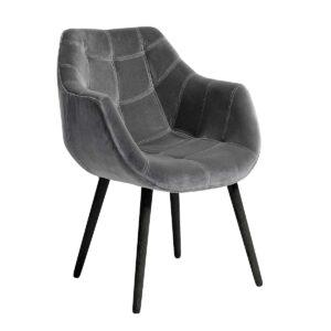 Nordal dinner spisebordsstol med armlæn grå