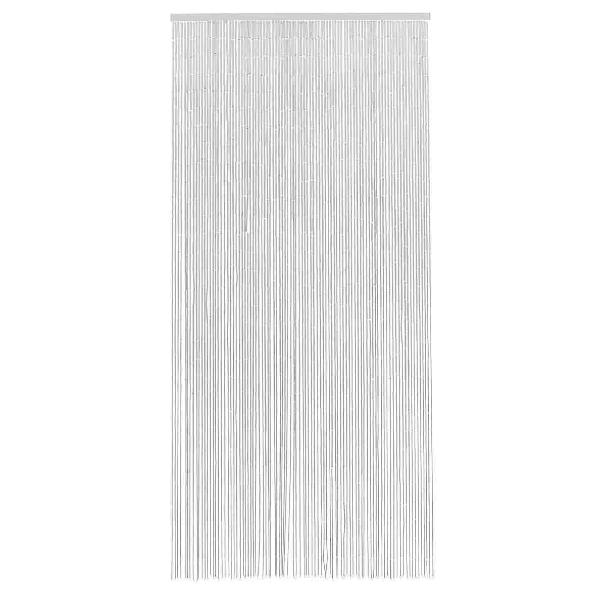 Bambus flueforhæng i hvid fra Nordal.
