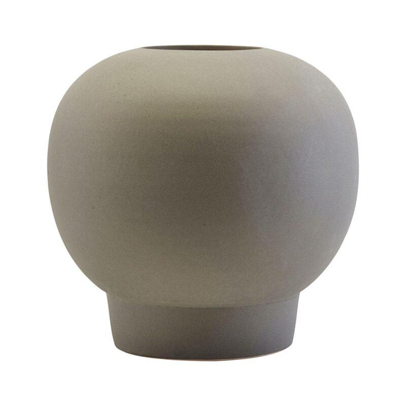 Bobble vase i grå stentøj fra House Doctor