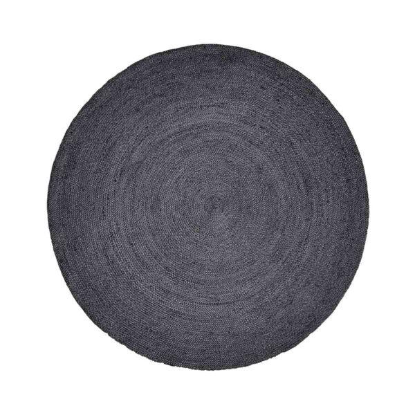Gulvtæppe jute sort Ø150 cm fra Nordal