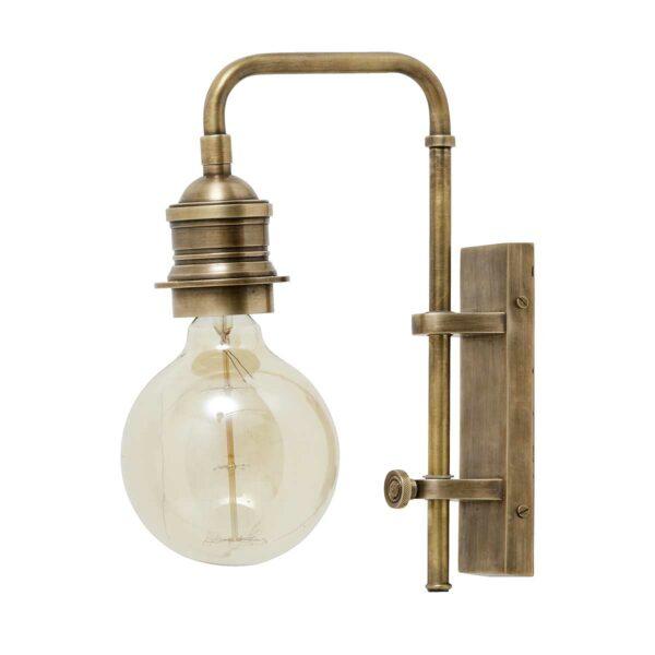 Væglampe i messing 30 cm høj fra Nordal