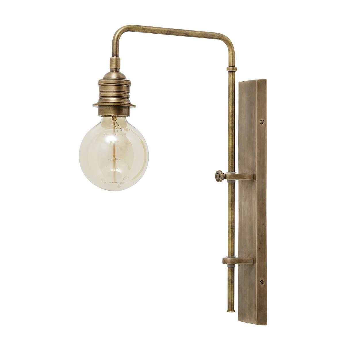 Image of   Nordal væglampe i messing - 48 cm høj