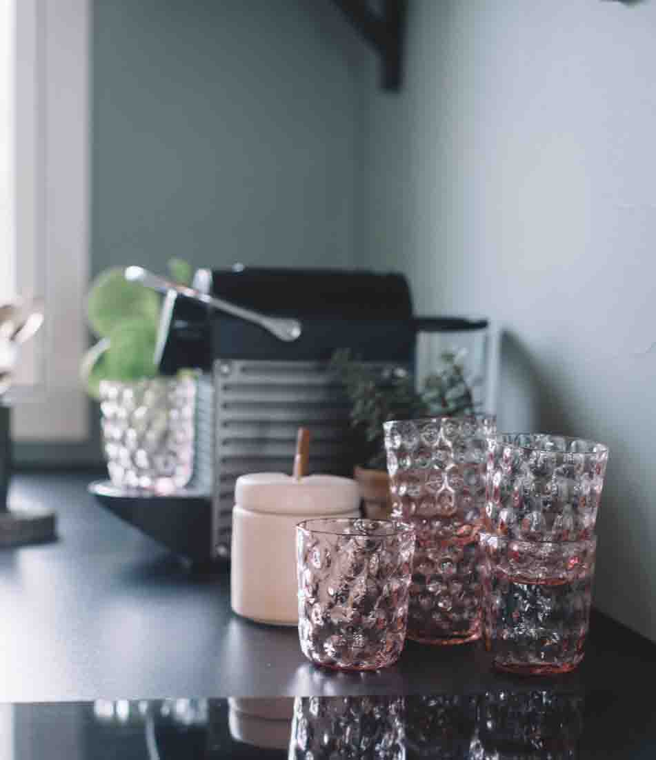 Image of   Kodanska drikkeglas big drops - pink