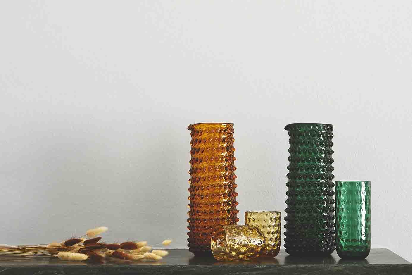 Image of   Kodanska drikkeglas small drops - Amber