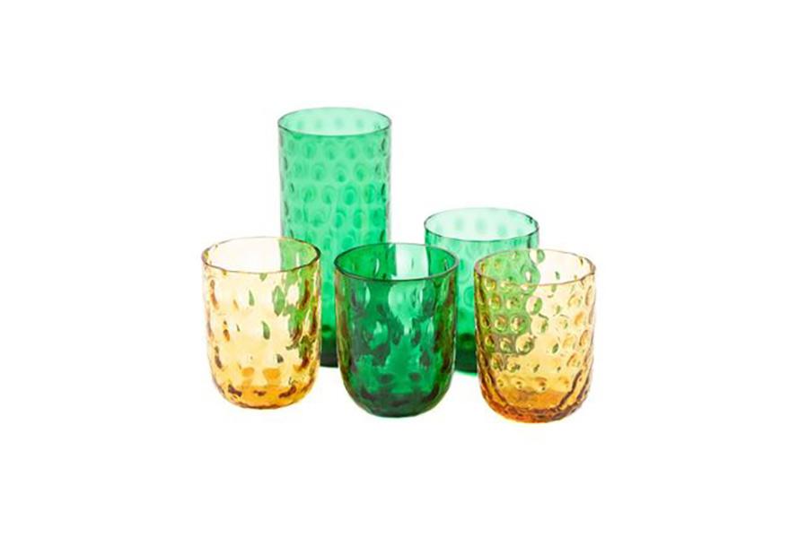 Image of   Kodanska drikkeglas big drops - grøn