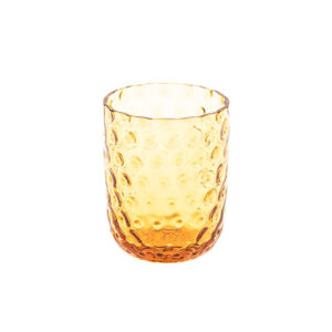 Drikkeglas small drops amber fra Kodanska. Mundblæst drikkeglas