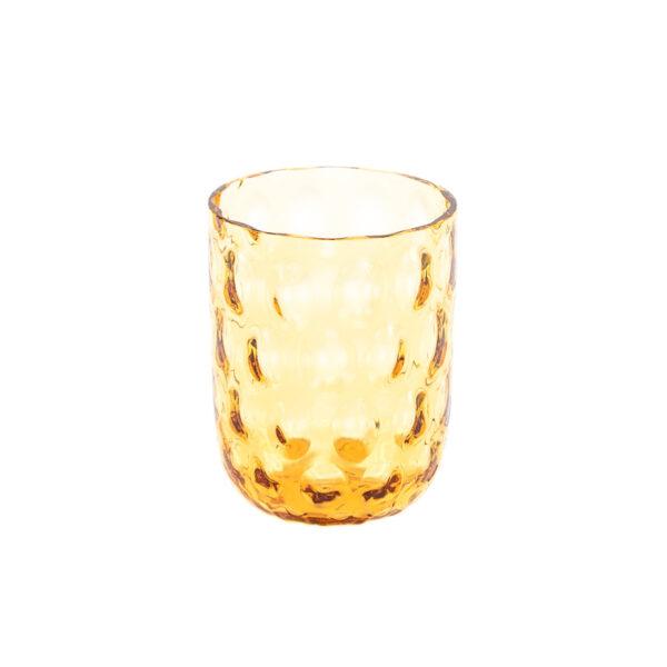 Kodanska Danish summer drikkeglas amber big drops
