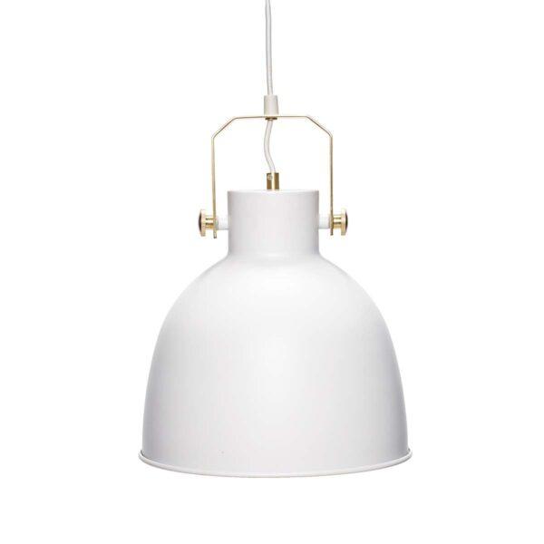 Loftlampe i hvid og messing fra Hübsch