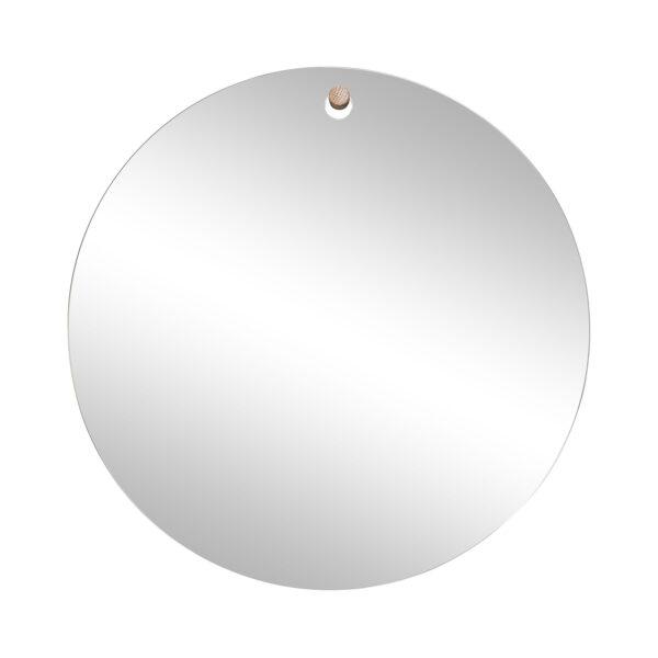 Hübsch rundt spejl med trækrog til ophæng, Ø50 cm