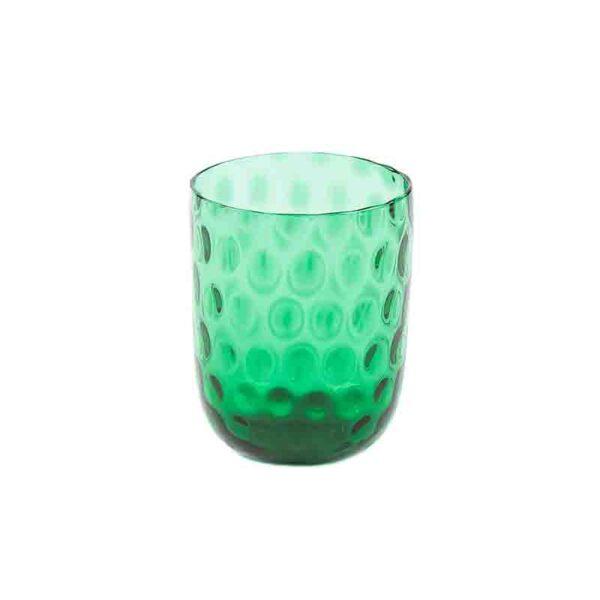 Kodanska drikkeglas grøn small drops