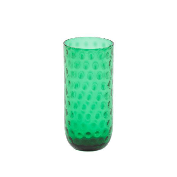 Drikkeglas longdrink grøn fra kodanska. mundblæst drikkeglas.