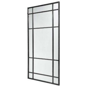 Spirit spejl i sort jern fra Nordal, 102x204 cm