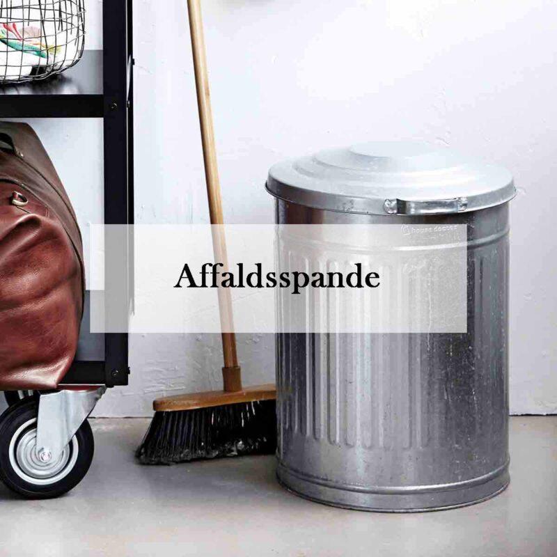 Flotte affaldsspande med vippelåg