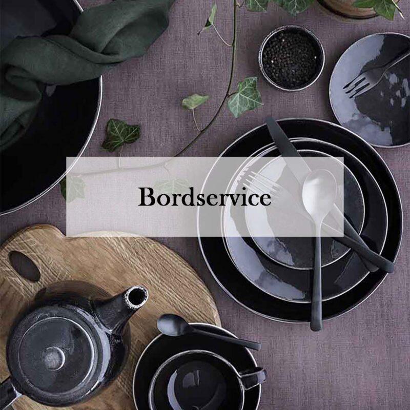 Bordservice til en smuk borddækning
