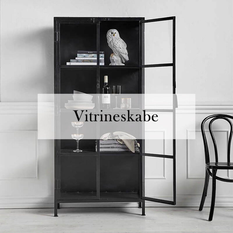 Vitrineskabe fra danske brands