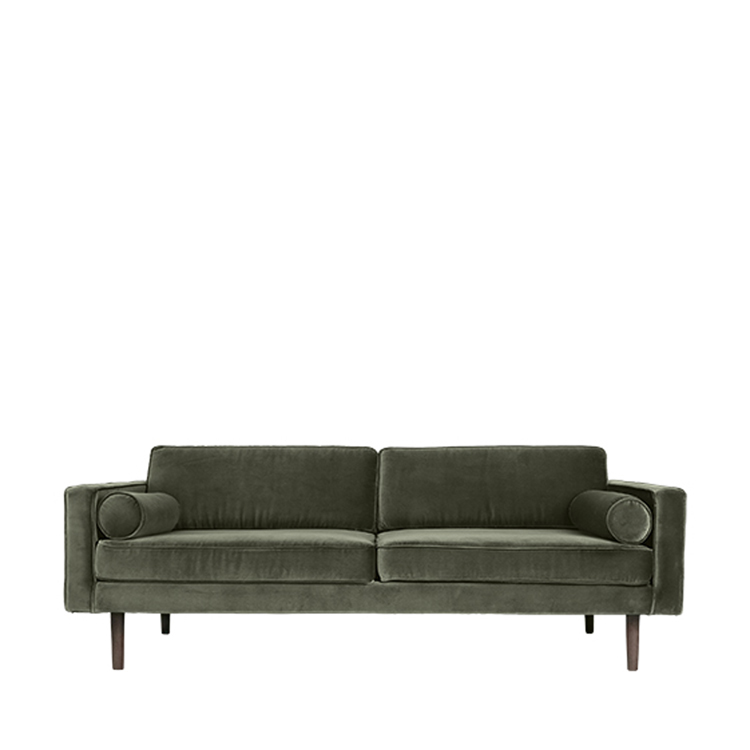 Image of   Broste Copenhagen Wind 3 pers. sofa - Grape Leaf