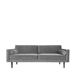 Broste Copenhagen wind 3 pers. sofa i drizzle grå velour