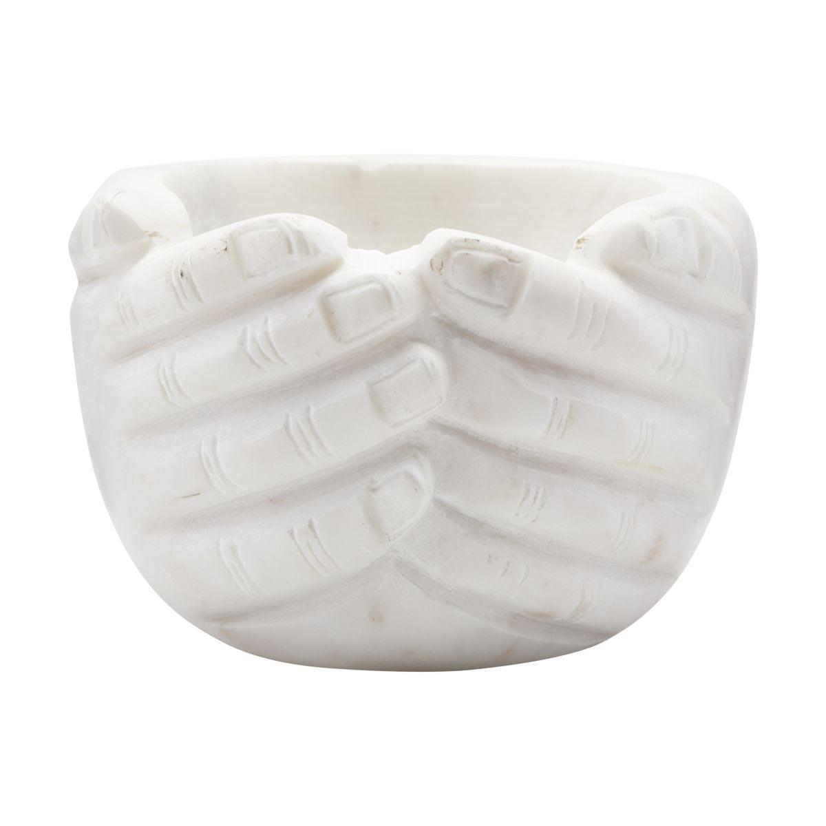Image of House Doctor Hands skål - hvid marmor