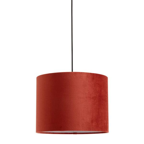 Nordal velour lampeskærm i rød