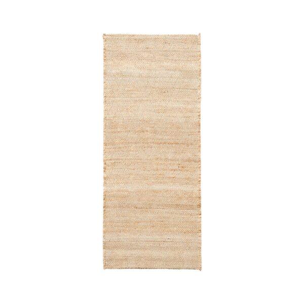House Doctor Mara gulvtæppe 240x100 cm i naturfarvet jute med grafisk mønster