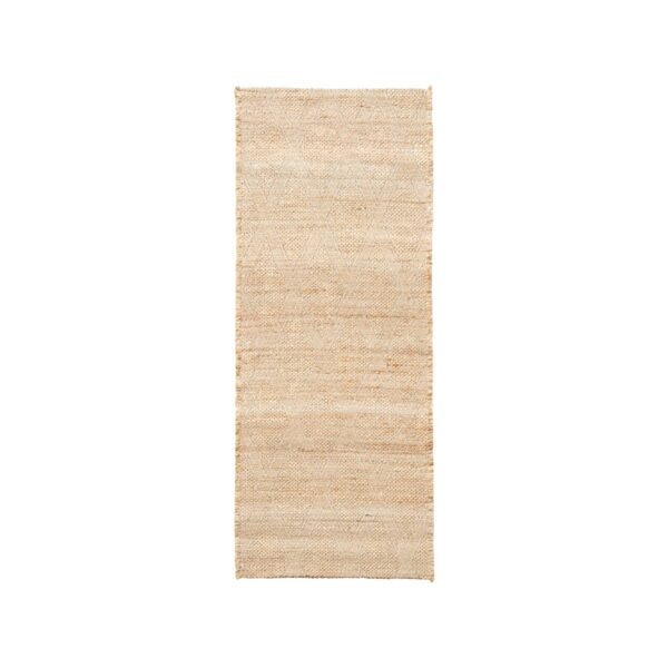 House Doctor mara gulvtæppe 130x85 cm i jute med vævet mønster