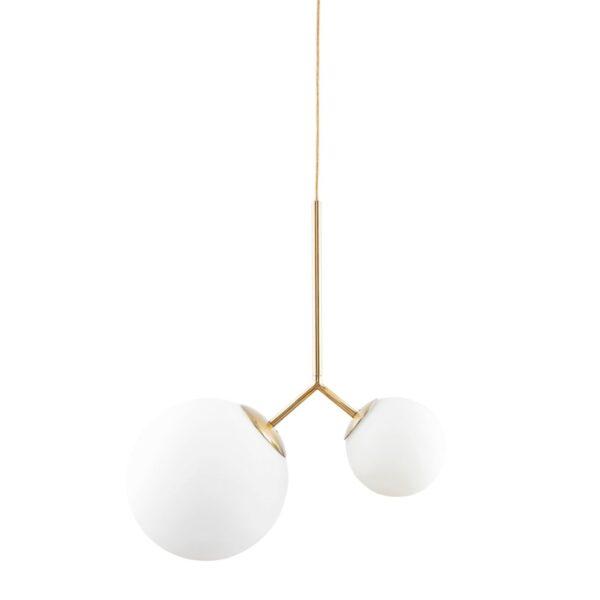 Twice lampe i hvid og guld fra House Doctor