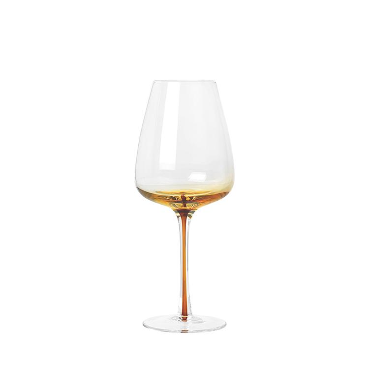 Image of   Broste Copenhagen Amber Hvidvinsglas