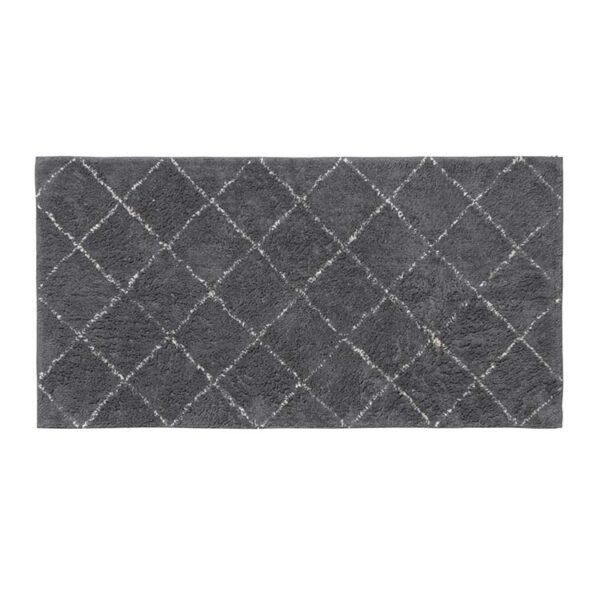Broste Copenhagen Janson gulvtæppe 140 cm lang i grå og hvid