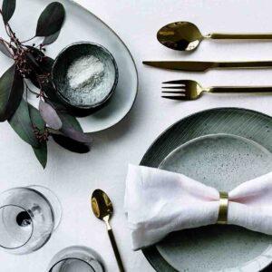 Broste Copenhagen Tvis titanium rose gold bestiksæt i gaveæske