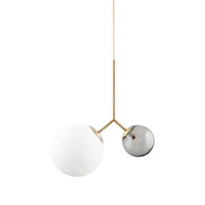 Twice loftlampe i hvid, grå og guld fra House Doctor