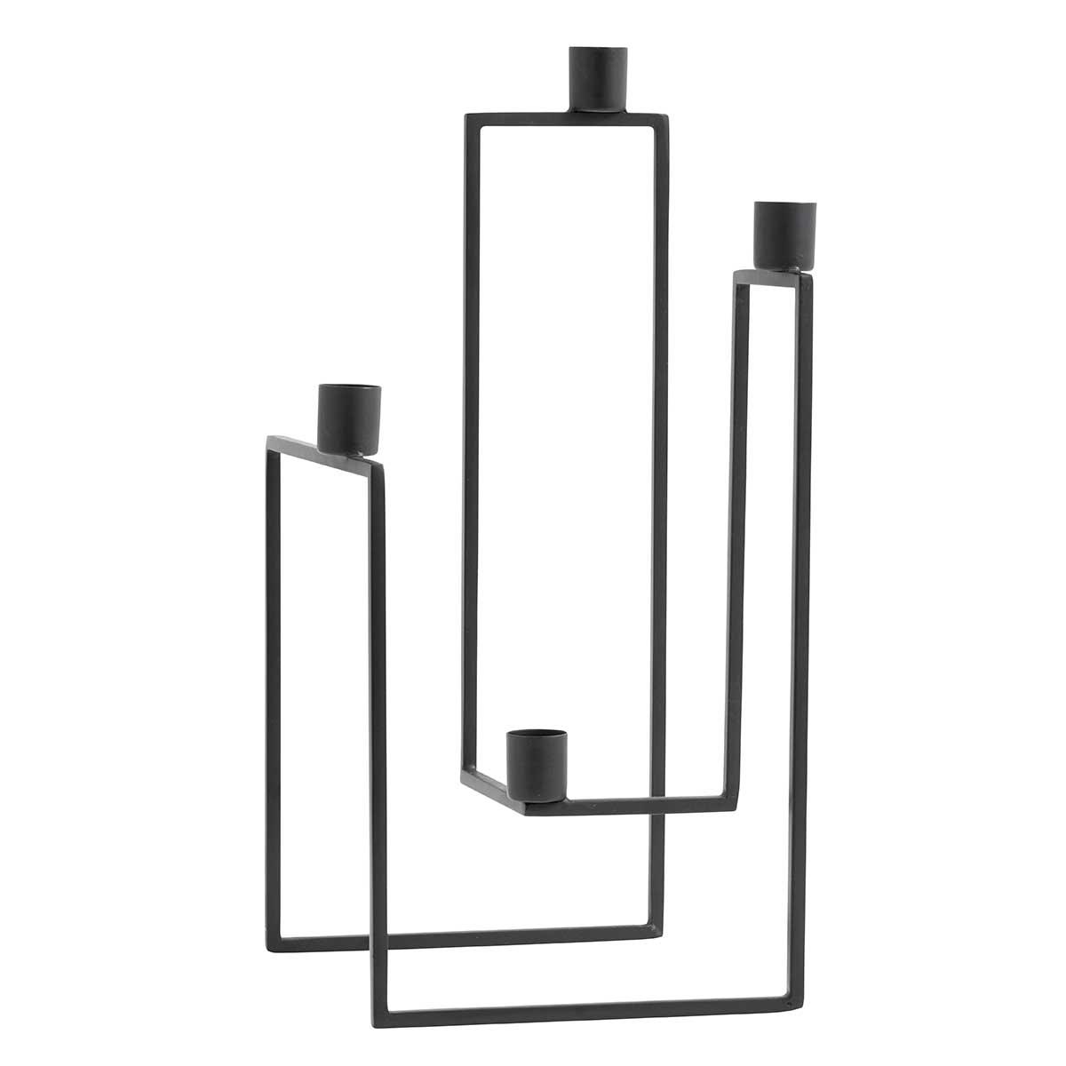 Image of Nordal Ora 4-armet lysestage - sort jern