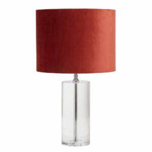 NOrdal clear bordlampe i klar krystalglas