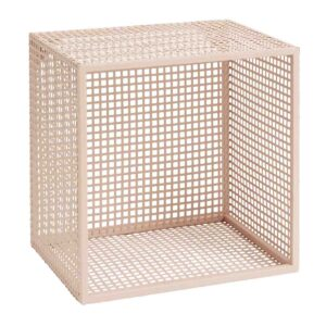 Nordal wire box hylde small i lys pink