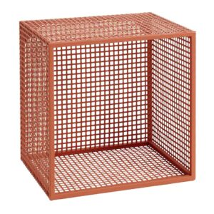 Nordal wire box hylde small i terracotta.