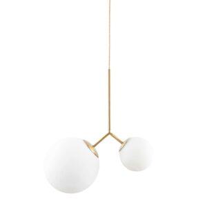 Twice loftlampe i hvid og guld fra House Doctor